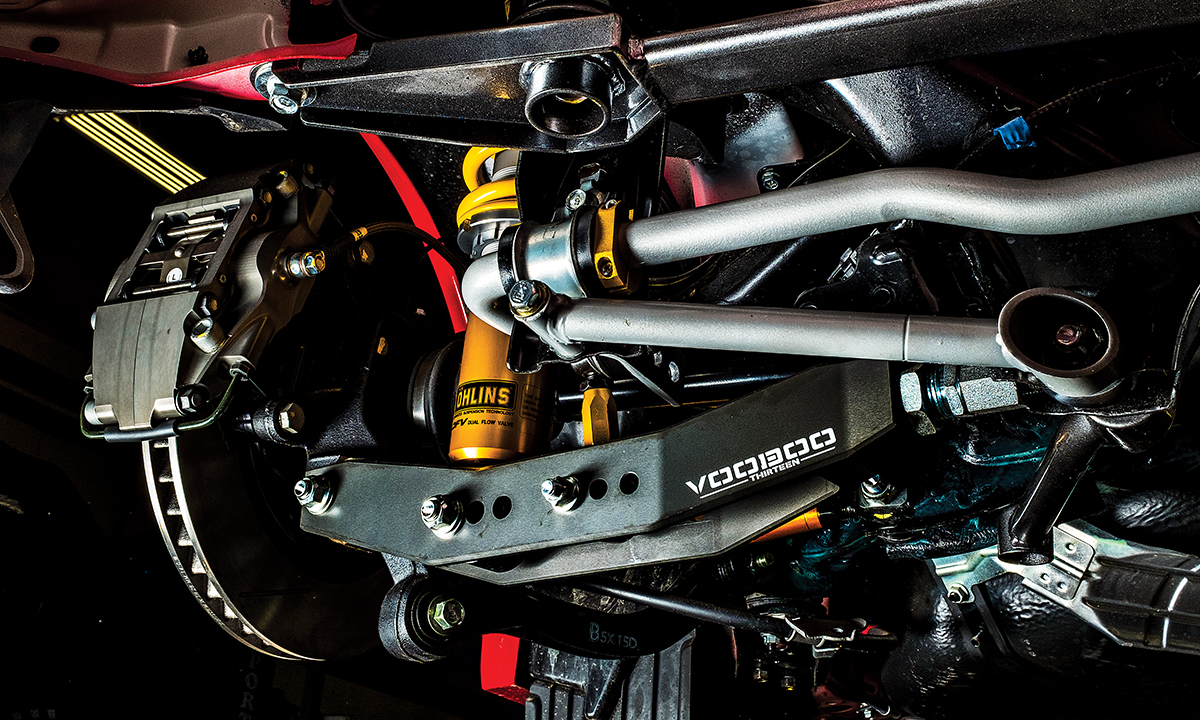 StopTech braking system, Ohlins coilovers and VOODOO 13 lower control arm