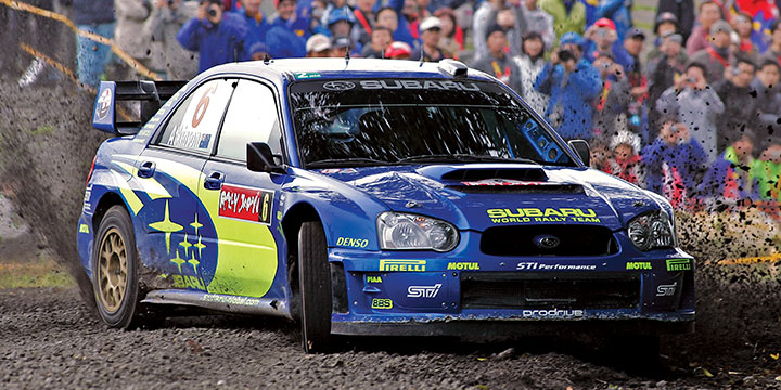 2005, full-time SWRT driver, 3rd place Rally Japan