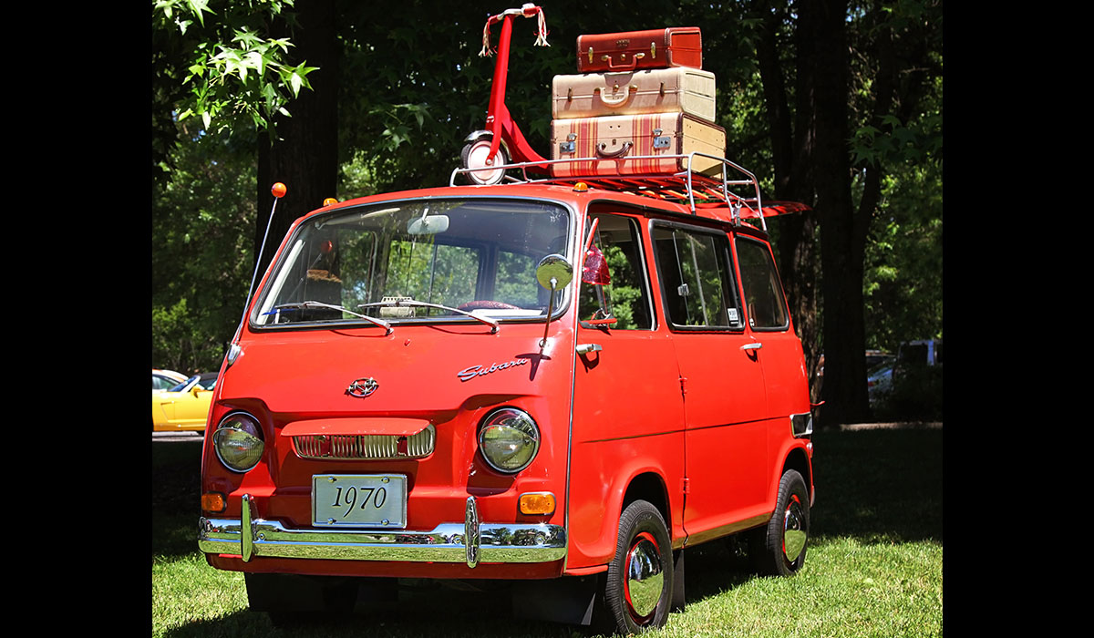 """Stanley"" is a 1970 Subaru 360 Sambar Van. When Jamie purchased it, it wasn't running, and required a full fuel system replacement. Since then, Stanley's become a bit of an Instagram celebrity, with his own Instagram account."