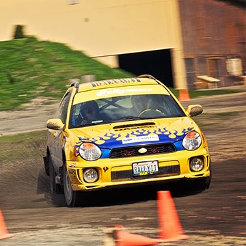 Jamie uses this 2002 WRX as her rally car; in 2008, she carried it to victory in the Wagons Ho! Rally in Oregon.