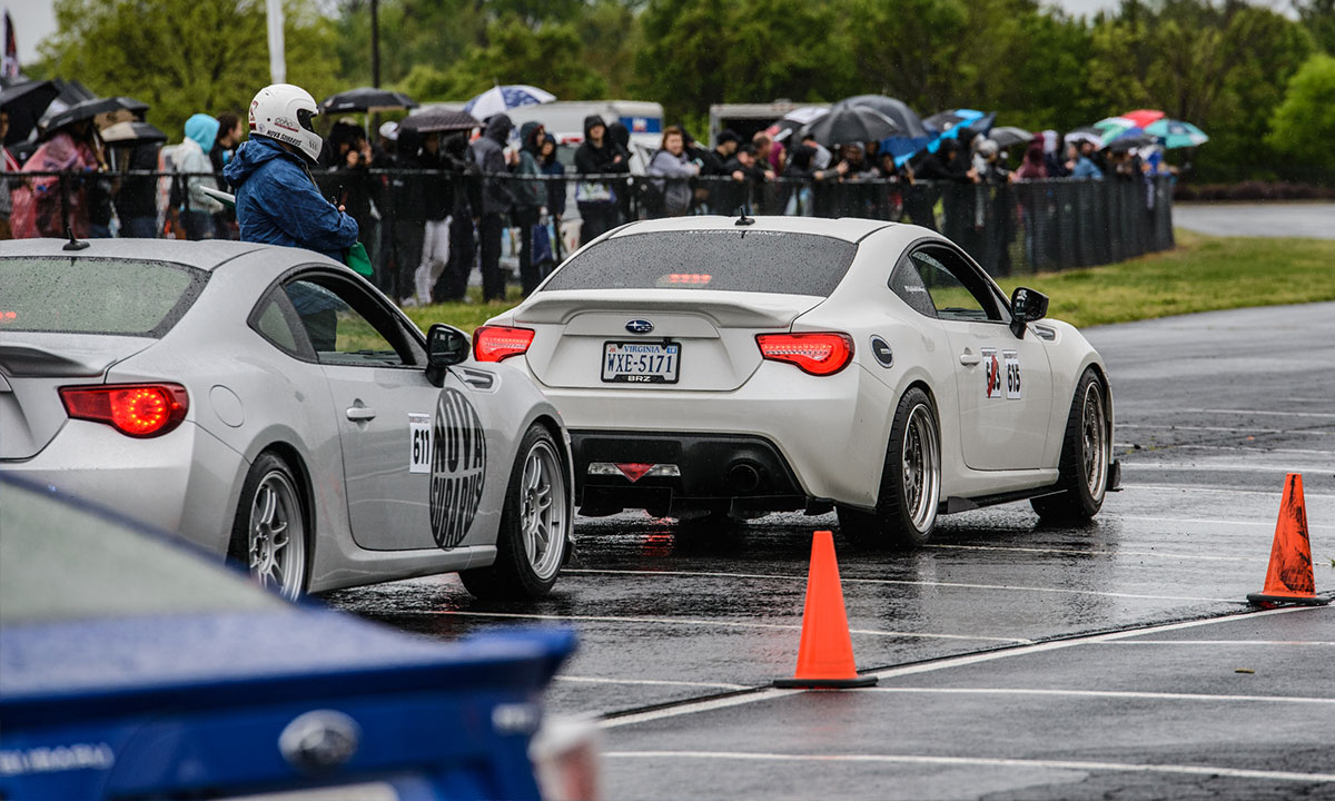 Wet weather didn't stop the autocross action at 2016 Boxerfest. Photo: Jon DiFrancisco