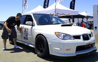 Michael Jantz with his time attack WRX STI.