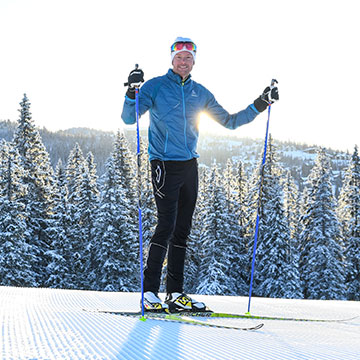 Skiing in his native Sweden is a natural way for Patrik Sandell to exercise.