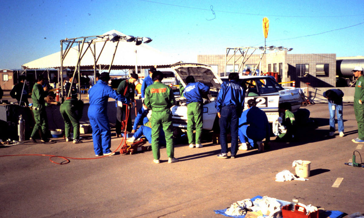 """Each team member was trained on his particular job that he had to perform when the vehicles came in for their driver change,"" says Tony. When cars came off the track, crew members had two minutes to refuel, check fluids, check air pressure in the tires and execute a driver change. The crew changed tires every 96 hours."