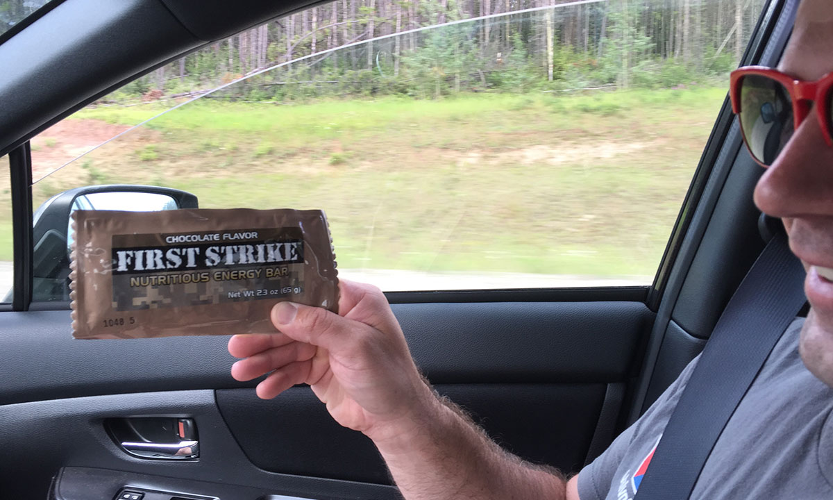 The pair dined on MREs (Meals, Ready-to-Eat) for most of the trip to cut down on time at food stops. After a zillion miles of nothing but energy bars, a hot dog has to sound like a gourmet meal.
