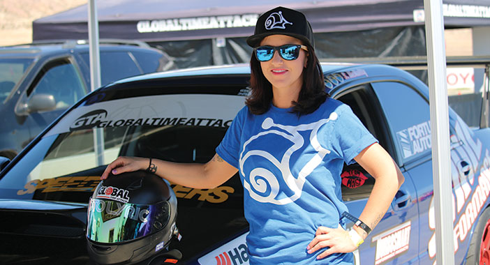 <p>Sally McNulty and her Time Attack WRX</p>