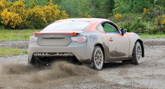 <p>David Higgins Rallys the BRZ at DirtFish</p>