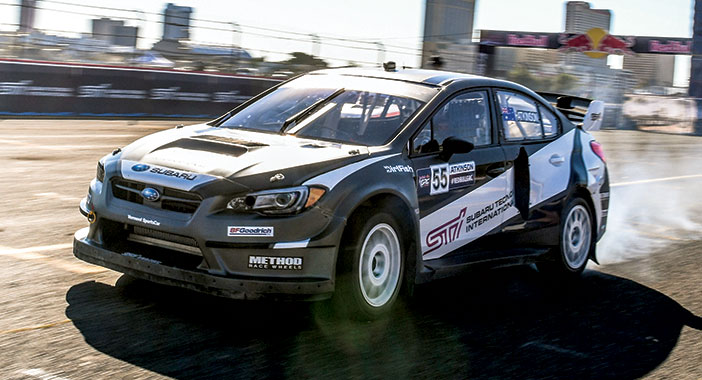 <p>Rallycross lap in a Subaru WRX STI with Chris Atkinson</p>